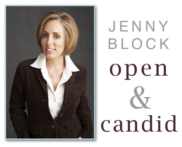 jenny block interview open and candid