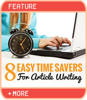 8 Time Savers for Article Writing
