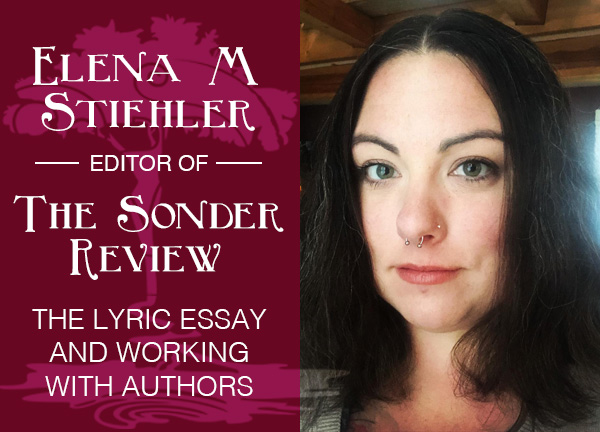 From the Desk of Elena M. Stiehler, Editor of The Sonder Review: The Lyric Essay and Working with Authors
